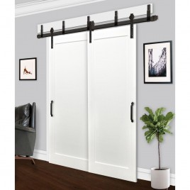Wood 1 Panel Bypass Barn Door