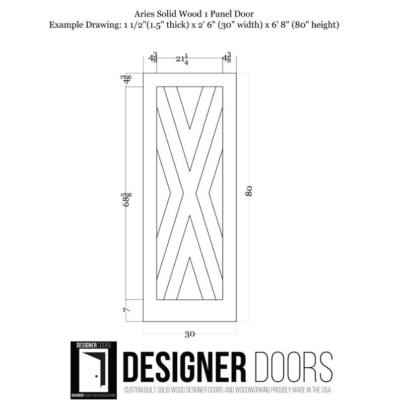 Aries Wood 1 Panel Barn Door (Paint Grade Wood Designer Series Sliding Barn Doors) by www.doubledw.com
