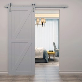 Double Z Brace Wood 2 Panel Barn Door