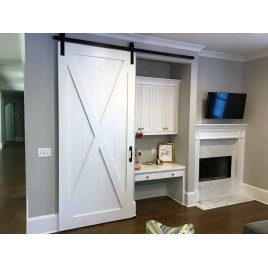 X Brace Wood 1 Panel Barn Door