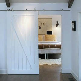 Z Brace Wood 1 Panel Barn Door