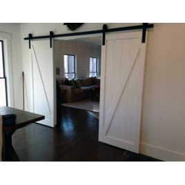 Z Brace Wood 1 Panel Double Barn Door