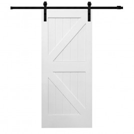 British Brace K Design Wood 2 Panel Barn Door