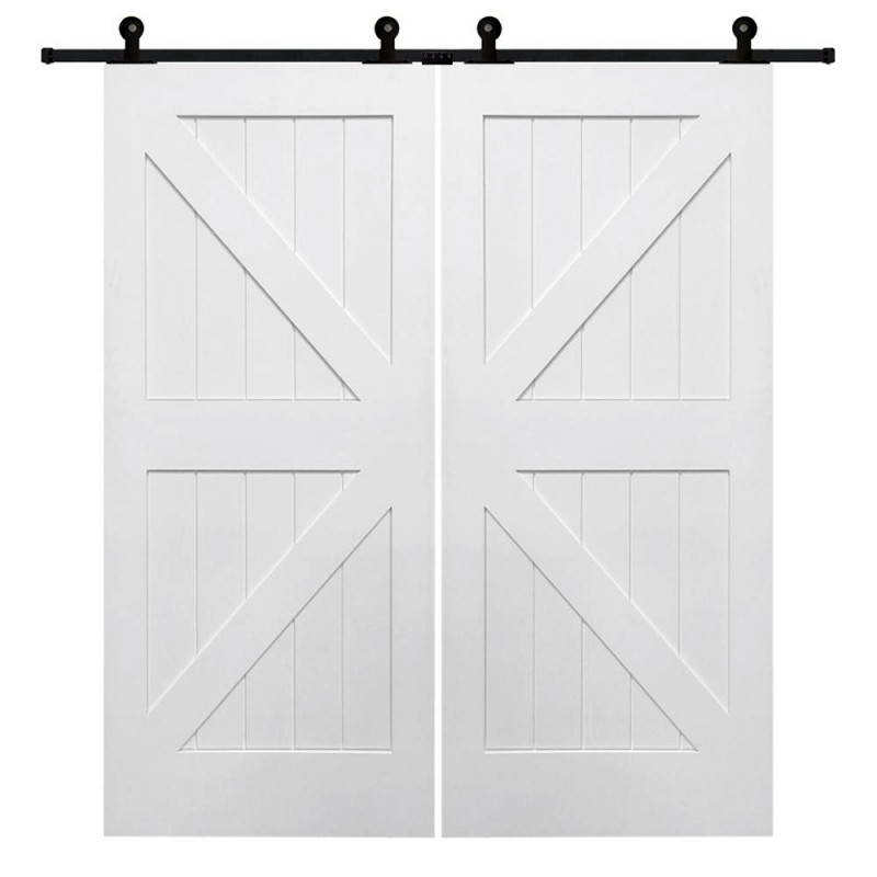 British Brace K Design Wood 2 Panel Double Barn Door (Double Barn Doors) by www.doubledw.com