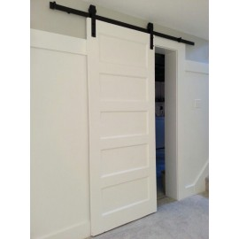 Wood 5 Panel Shaker Barn Door