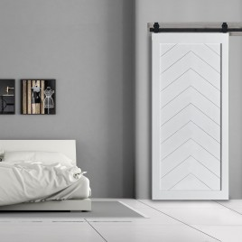 Chevron Wood 1 Panel Barn Door