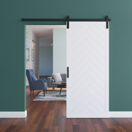 Herringbone Wood 1 Panel Barn Door