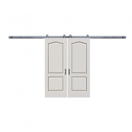 Camden 2 Panel Shaker Double Barn Door