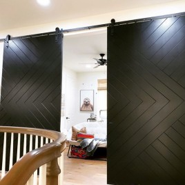 Chevron Arrow Bypass Barn Door
