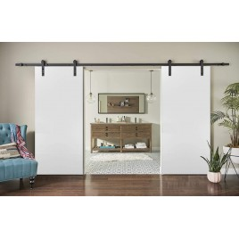 Flush Solid Wood Double Barn Door