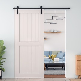 Wood 2 Panel Shaker Barn Door
