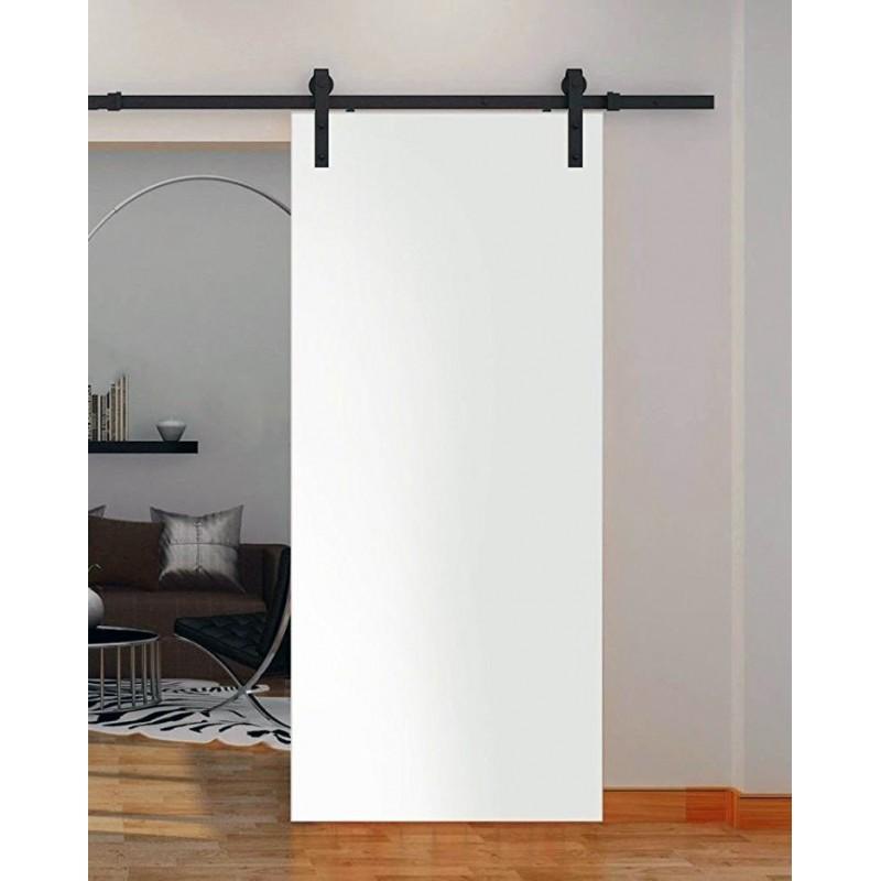 Flush Solid Wood Barn Door (Paint Grade Wood Designer Series Sliding Barn Doors) by www.doubledw.com