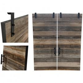 Reclaimed Wood Double Barn Door