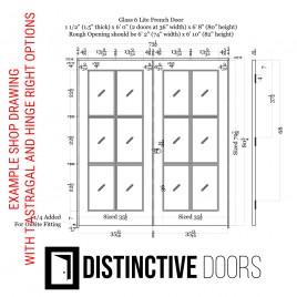 6 Lite Glass French Door