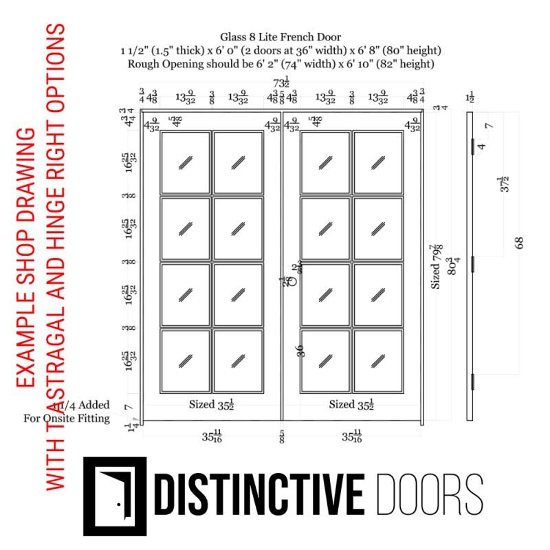 8 Lite Glass French Door (French Doors) by www.doubledw.com