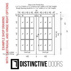 9 Lite Glass French Door