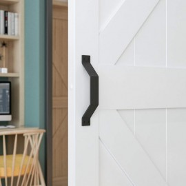 Black Barn Door Flat Pull Handle