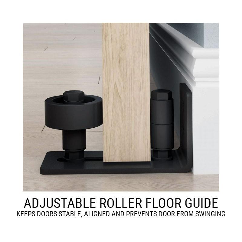 Adjustable Roller Floor Guide (Barn Door Hardware) by www.doubledw.com