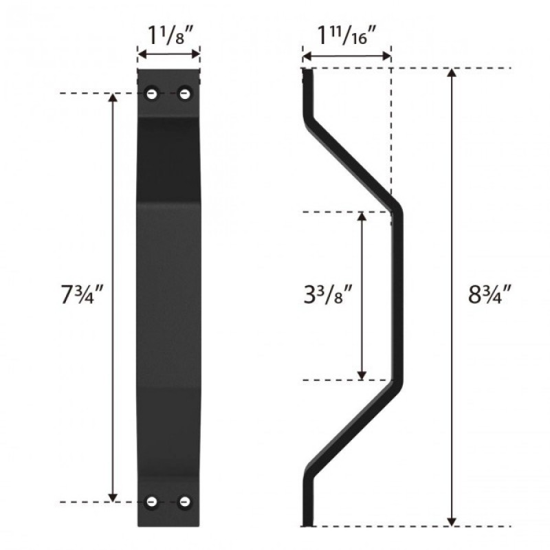 Black Barn Door Flat Pull Handle (Barn Door Hardware) by www.doubledw.com