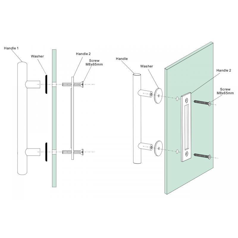 Brushed Stainless Barn Door Pull and Flush Round Door Handle Set (Barn Door Hardware) by www.doubledw.com