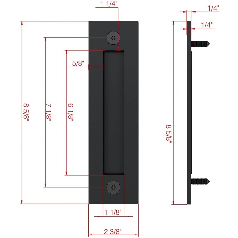 Black Surface Mount Flush Pulls (Handles and Miscellaneous Hardware) by www.doubledw.com