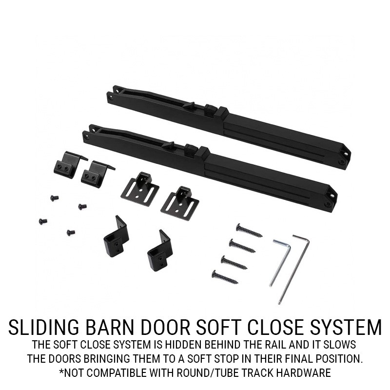 Soft Close Track System Add-on (Barn Door Hardware) by www.doubledw.com