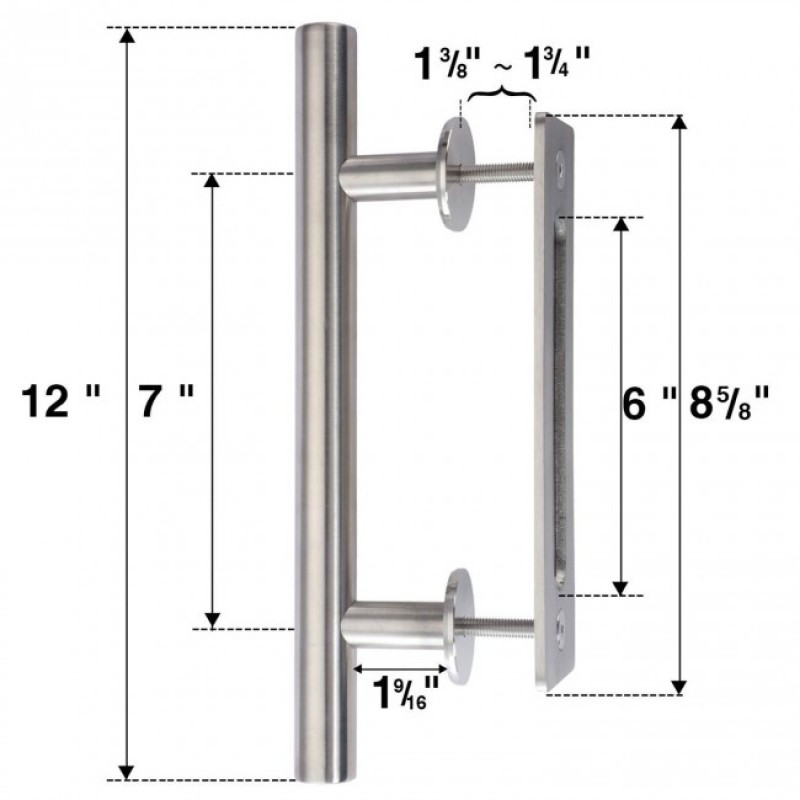 12 inch Round Stainless Handle with  8 5/8 inch Flush Pull (Handles and Miscellaneous Hardware) by www.doubledw.com