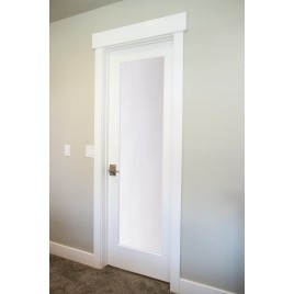 Glass 1 Panel Interior Paint Grade Door