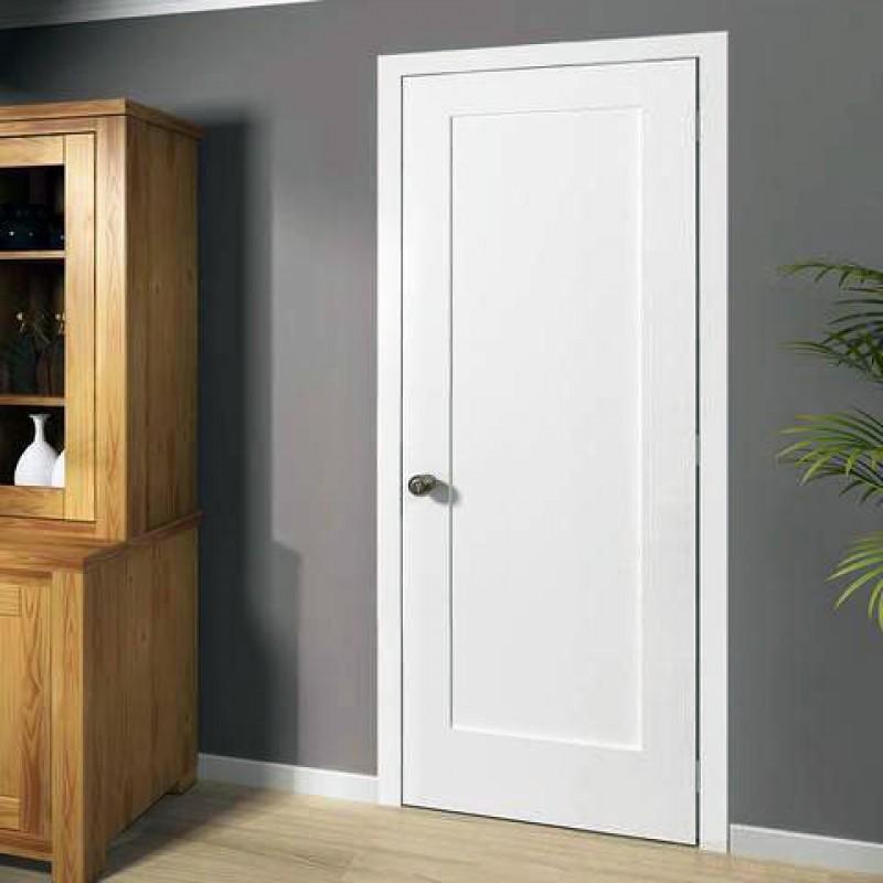 Wood 1 Panel Interior Paint Grade Door (Wood Designer Series Interior Doors) by www.doubledw.com