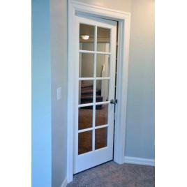 Glass 10 Panel Interior Paint Grade Door