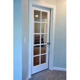 Glass 10 Panel Interior Paint Grade Door