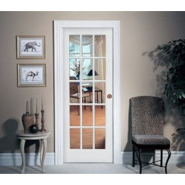 Glass 15 Panel Interior Paint Grade Door