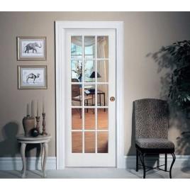 Glass 15 Panel Interior Paint Grade Door