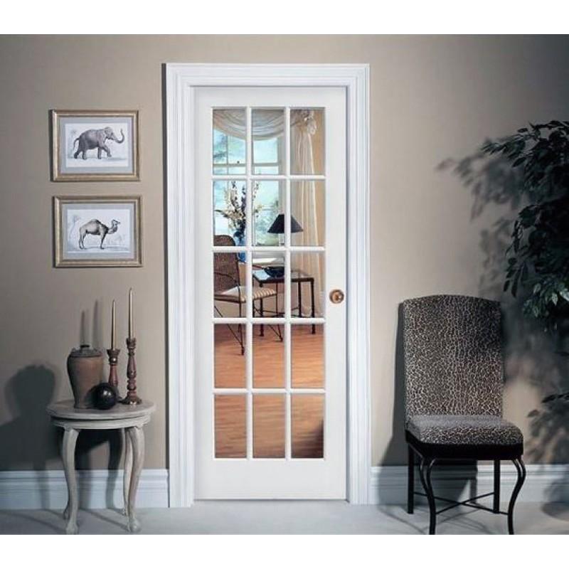 Glass 15 Panel Interior Paint Grade Door (Glass Designer Series Interior Doors) by www.doubledw.com