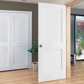 Wood 2 Panel Interior Paint Grade Door