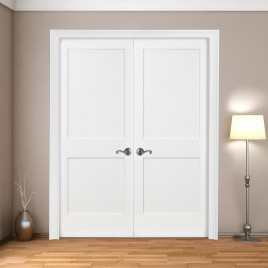 Wood 2 Panel French Door