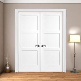 Wood 3 Panel French Door