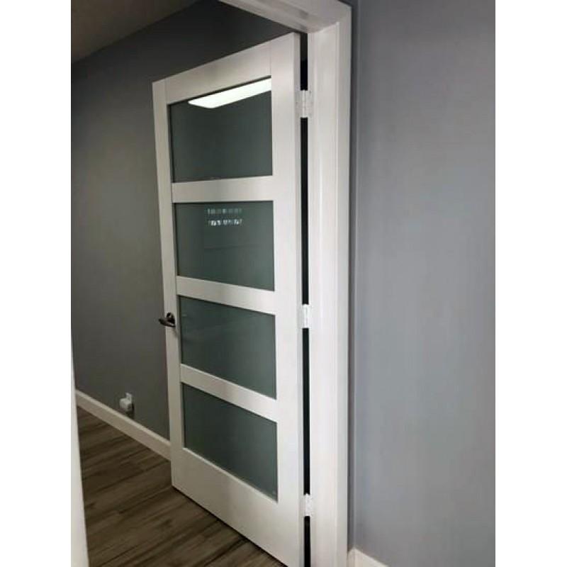 Glass 4 Panel Interior Paint Grade Door (Glass Designer Series Interior Doors) by www.doubledw.com