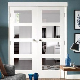 4 Lite Glass French Door