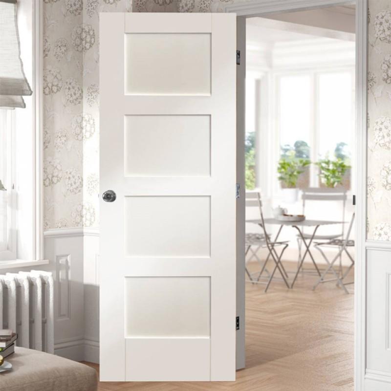 Wood 4 Panel Interior Paint Grade Door (Wood Designer Series Interior Doors) by www.doubledw.com