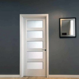 Glass 5 Panel Interior Paint Grade Door