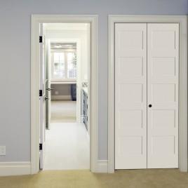 Wood 5 Panel Bifold Door