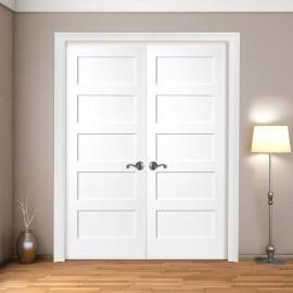 Wood 5 Panel French Door
