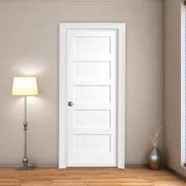 Wood 5 Panel Interior Paint Grade Door