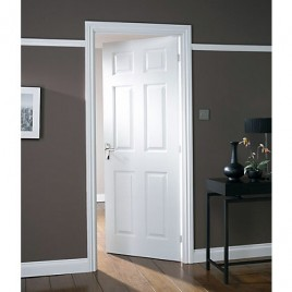Wood 6 Panel Interior Paint Grade Door