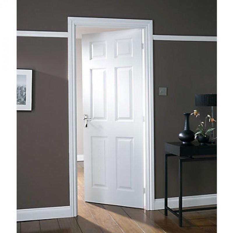 Wood 6 Panel Interior Paint Grade Door (Wood Designer Series Interior Doors) by www.doubledw.com