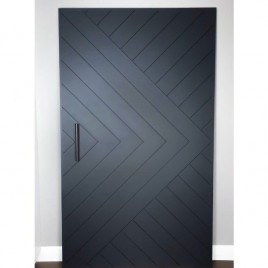 Chevron Arrow Interior Paint Grade Door